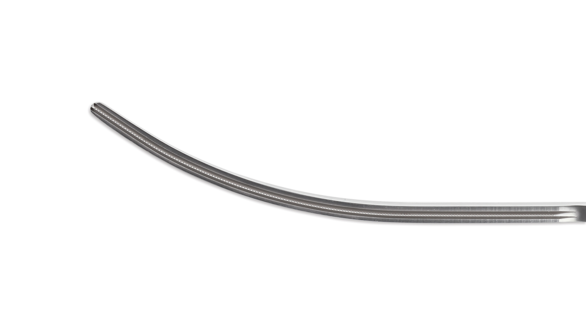 Thoracoscopic DeBakey Clamp - 110mm Curved 1x2 DeBakey Atraumatic Tapered jaws