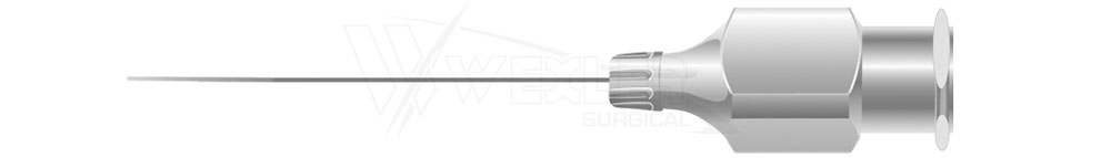West Lacrimal Cannula - 23 guage Straight w/Blunt tip