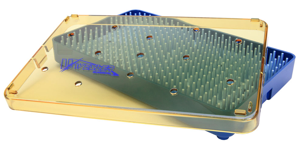 Instrument Sterilization Tray - Includes Base/Mat/Lid