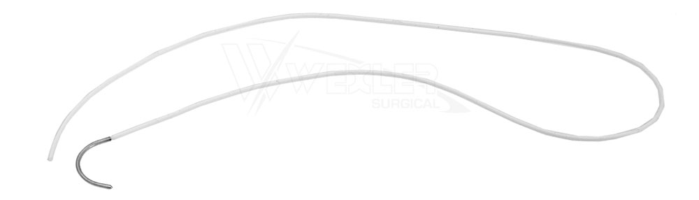 Silicone Loops w/Blunt Needle - White - (2 Loops/Pkg